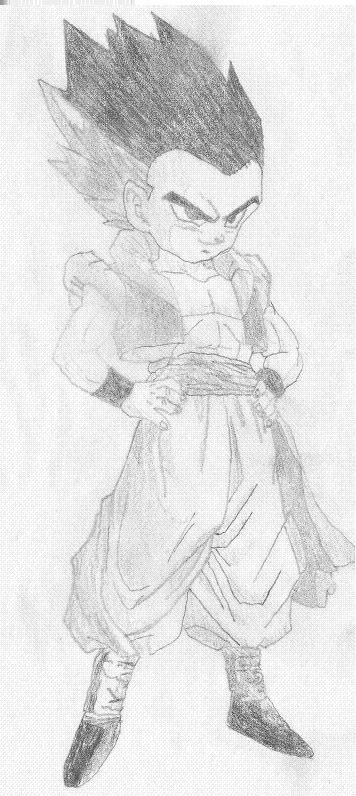 Gotenks Normal Drawings