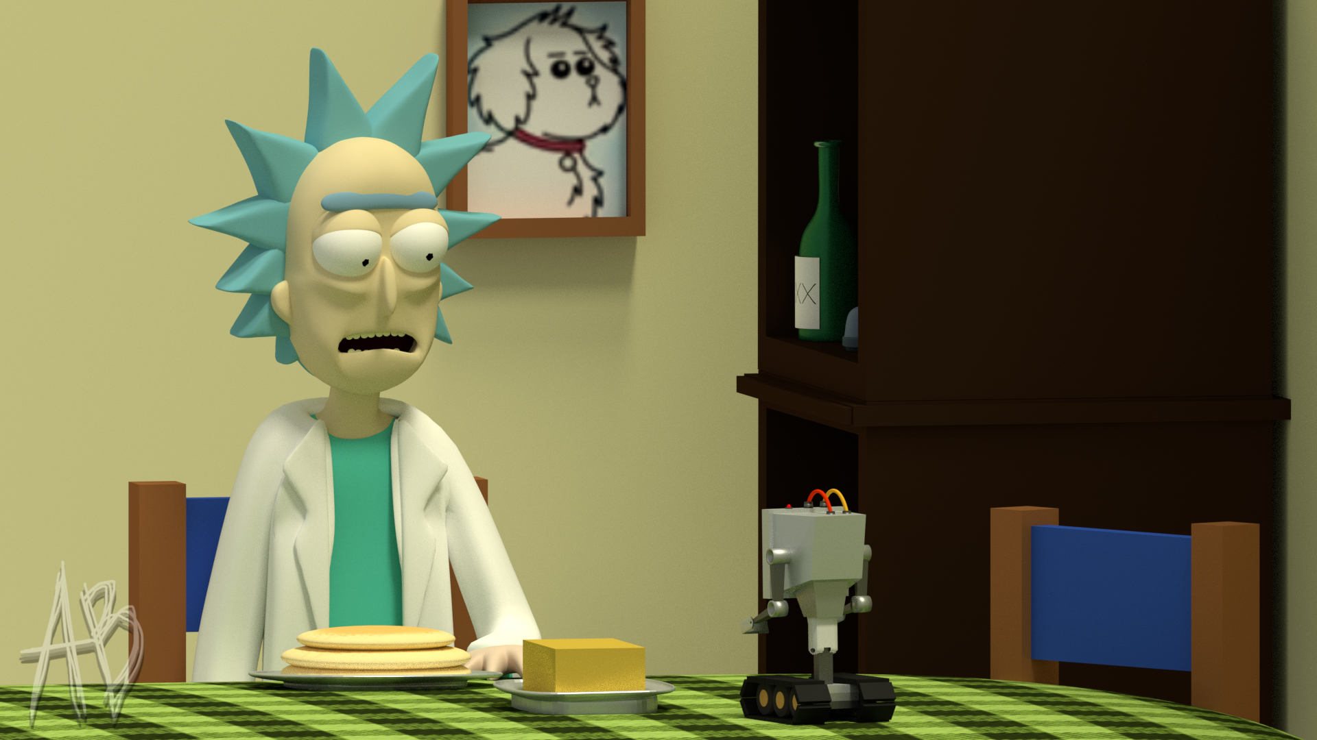 blender rick and morty you pass butter by anthonyblender on