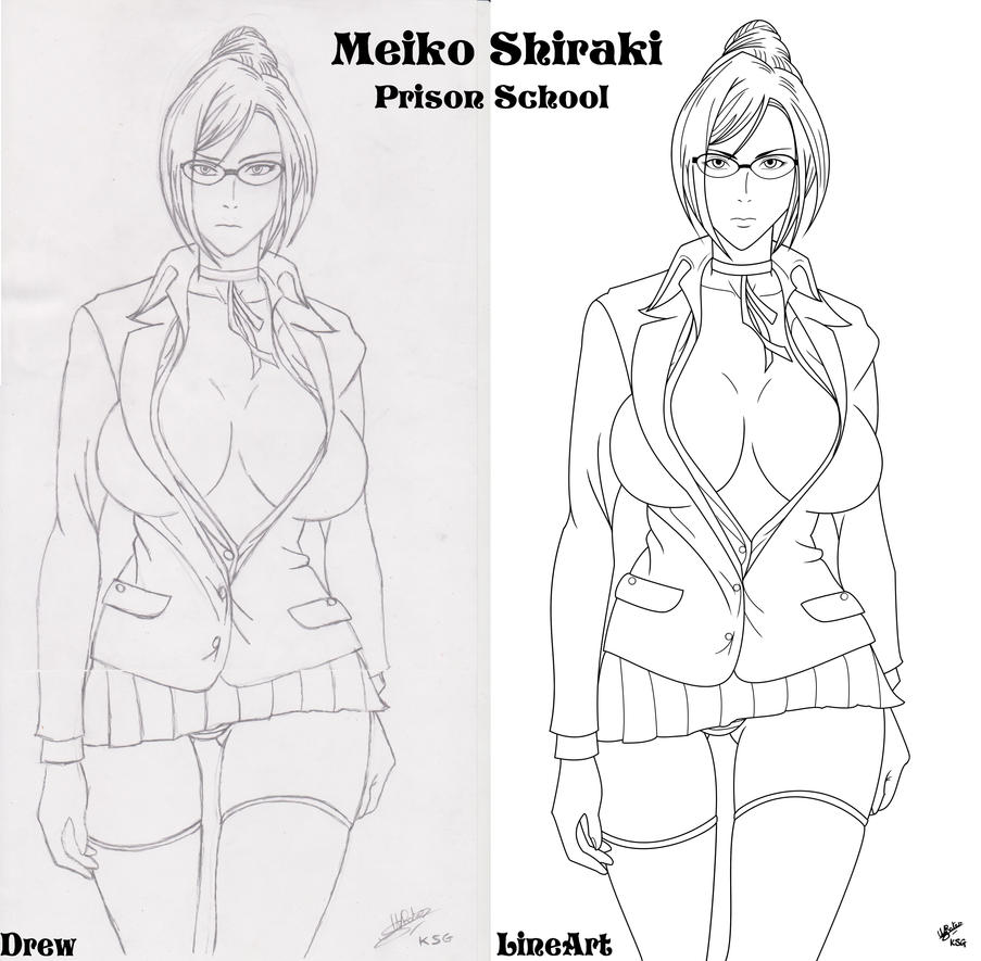 Art KSG Meiko Shiraki drew and Lineart by kenseigoku