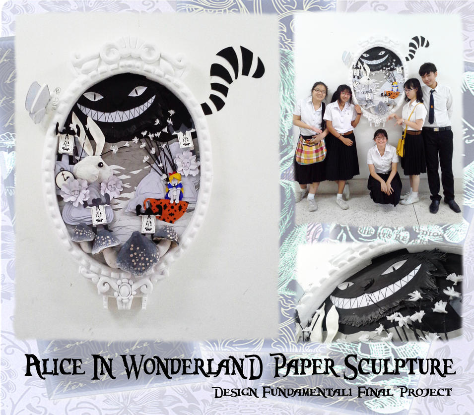 alice in wonderland paper sculpture by hiroshinki on alice in wonderland paper sculpture by hiroshinki