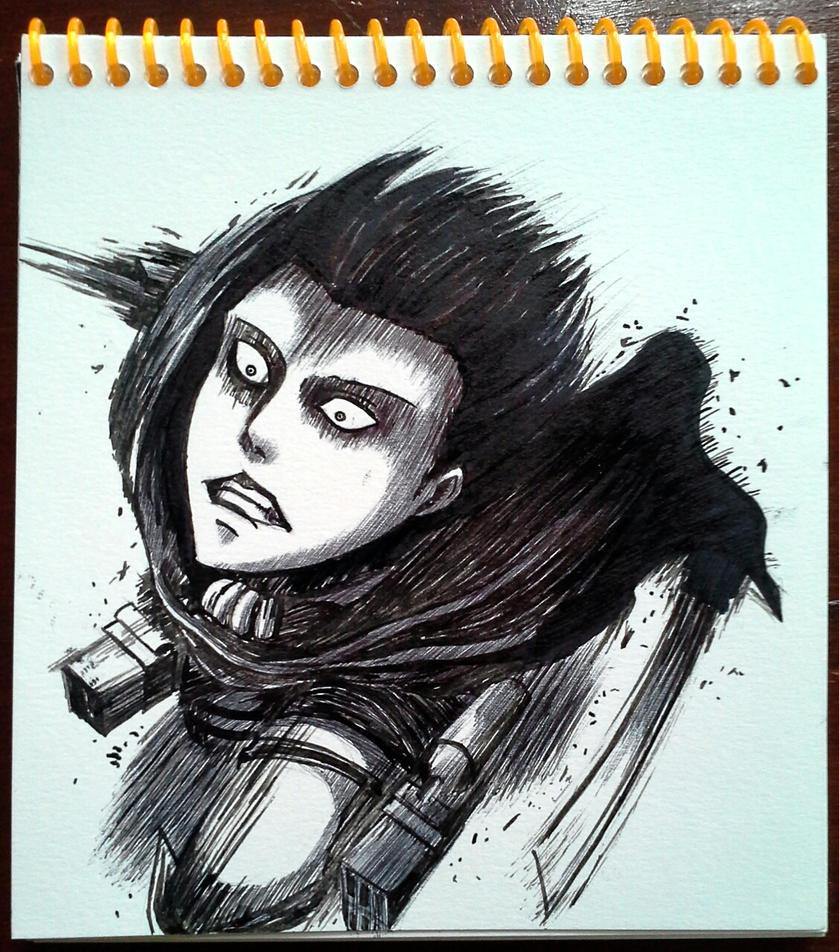 Levi rush!! - SnK [G-pen Practice] by Hiroshinki