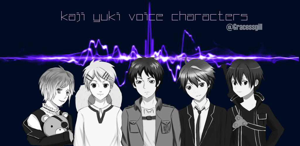 VoiceActor Kaji Yuki's Characters by Hiroshinki