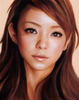 Namie Amuro - close up look - by m-ayu