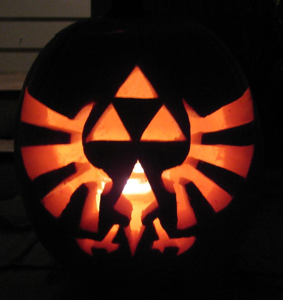 Triforce pumpkin carving by ladybug on deviantart