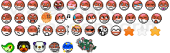 Updated Voltorb Smilies by Flyffel