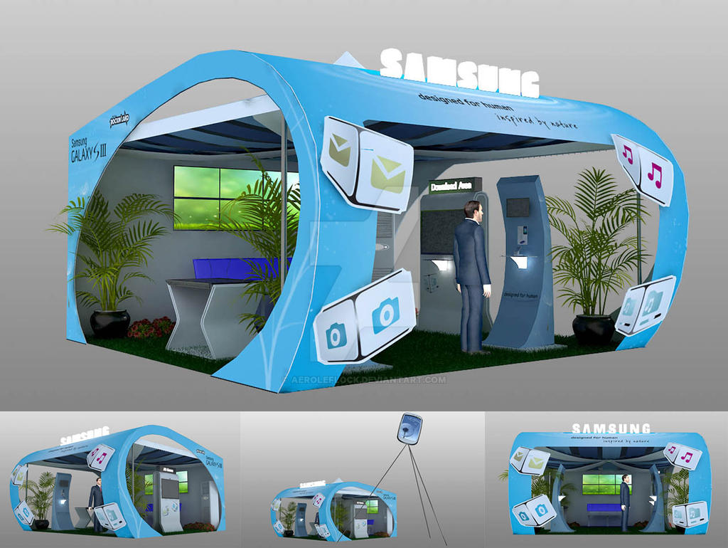 Samsung Booth by AeroleFlock