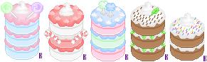 Pixel Cakes by skasumi