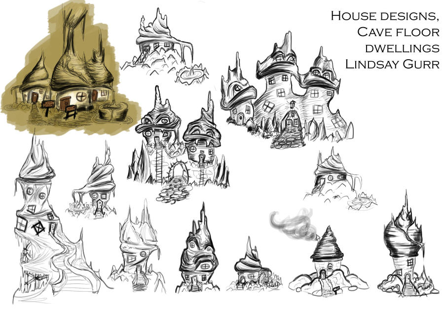 Cave Dwellings by TheAngelOfLucifer