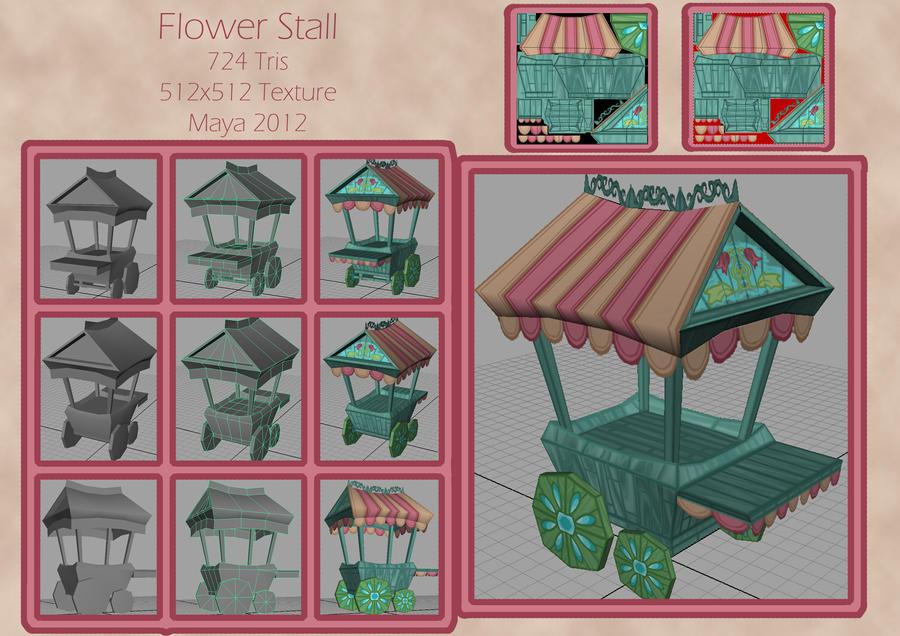 Flowef Cart 3D Model by TheAngelOfLucifer