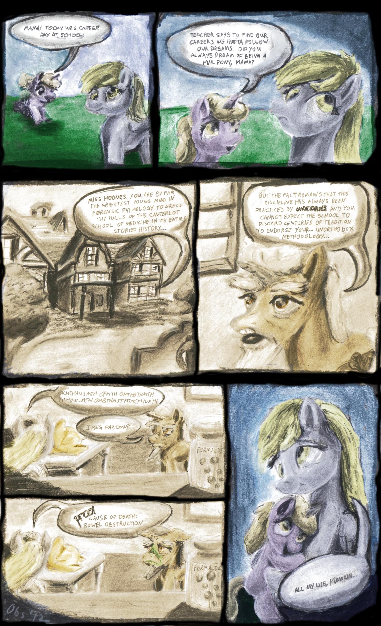 Your Daily Dose Of D'Awww   Derpy's Dream [Color] by Obsequiosity