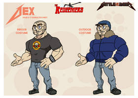 Battle of the Bands character designs - Dex