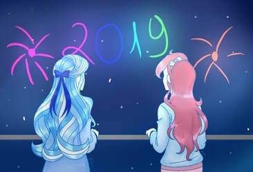 [Collab] Happy New Year! by Azura-Arts