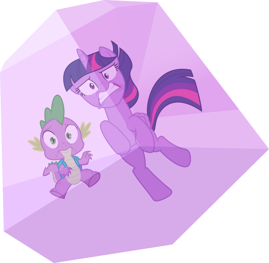 Twilight And Spike Trapped By Dusk2k On DeviantArt