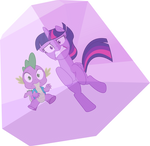 Twilight and Spike trapped