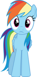 Rainbow Dash stare
