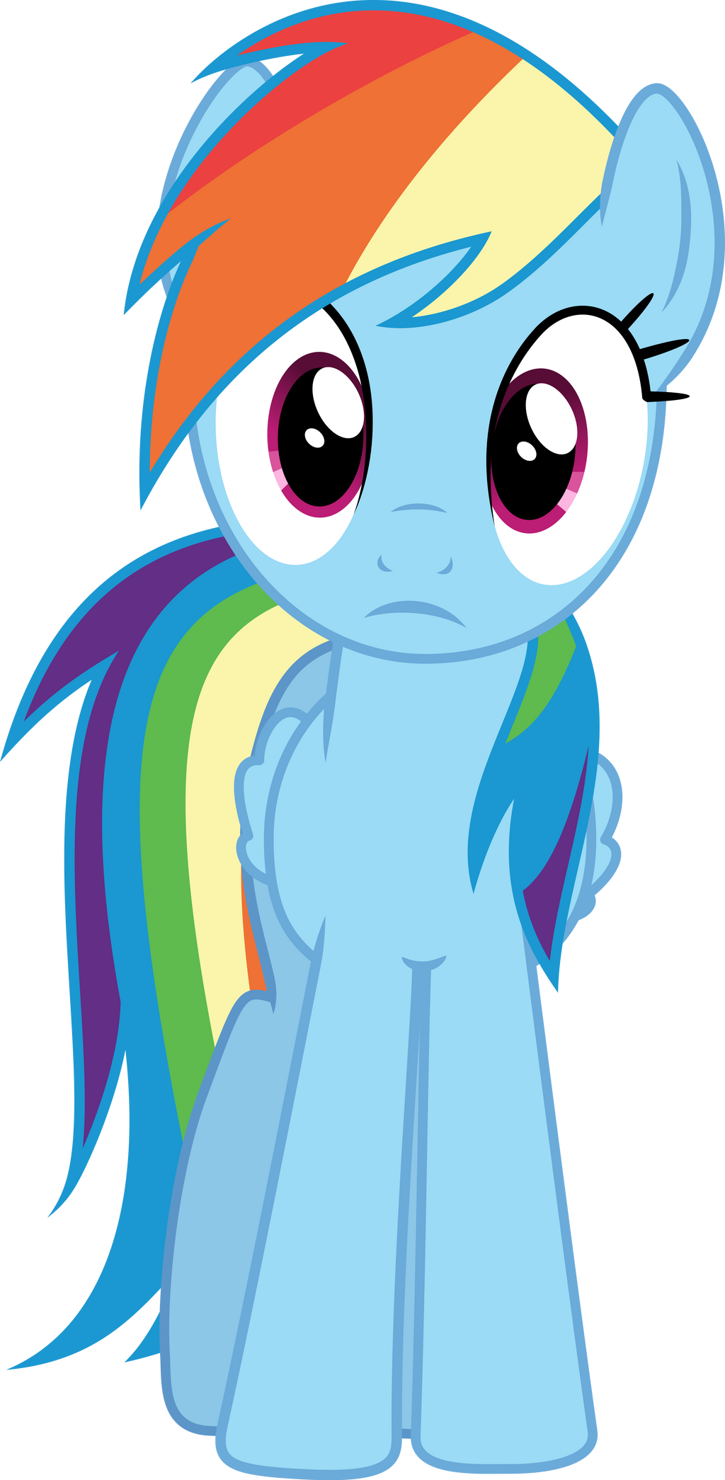Rainbow Dash stare by Dusk2k