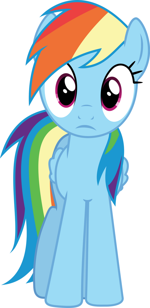 Rainbow Dash stare by Dusk2k