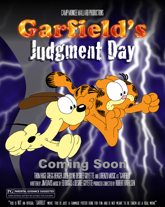 Garfield S Judgment Day Movie Poster Spoof By Fluidgirl82 On Deviantart