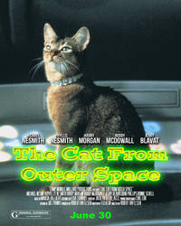 The Cat From Outer Space Poster Spoof
