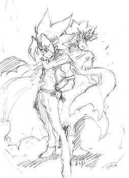 Ginga and Ryuga ZeroG ver.