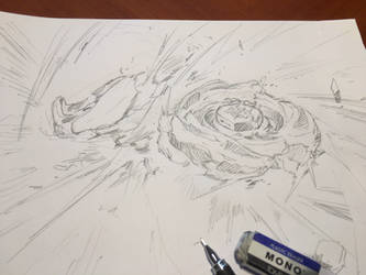 my drawing of beyblade by takafumi-adachi