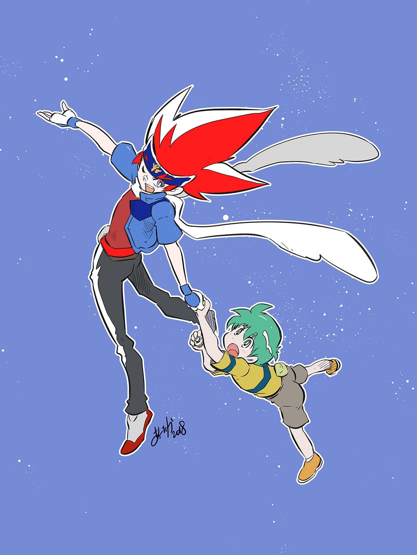 Ginga and Kenta by takafumi-adachi