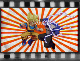 Goku vs Bluestreak by Balthazar321