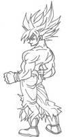 The original drawing of Goku SSJ!