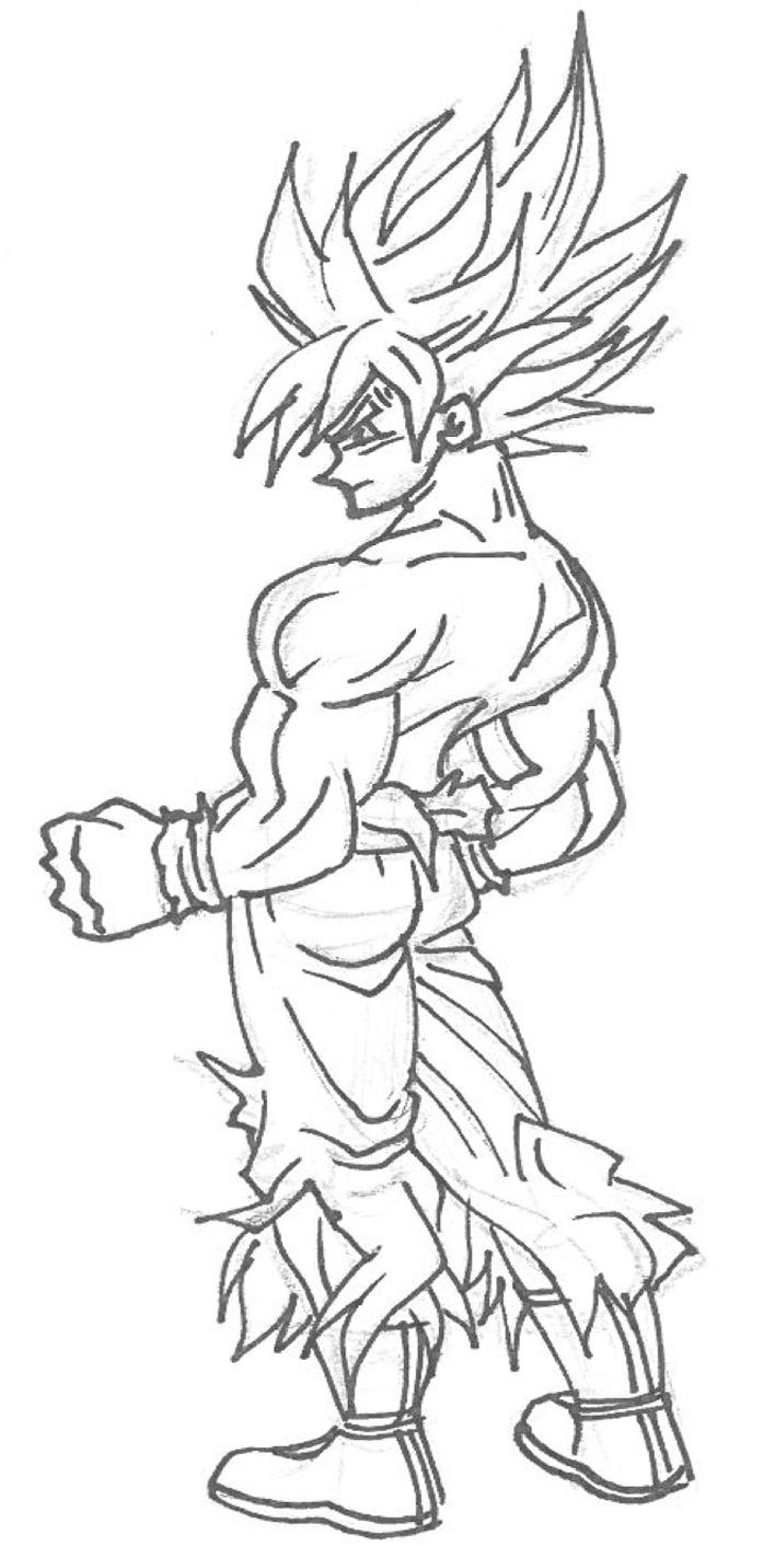 The Original Drawing Of Goku Ssj! By Balthazar321