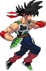 SF3-styled Bardock sprite by Balthazar321