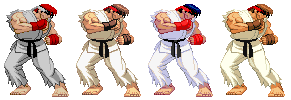 CvS styled SF2 Ryu with evolution palettes by Balthazar321