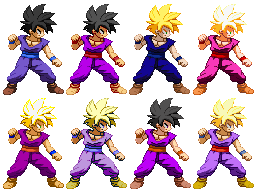 Gohan Z2 brother pack by Balthazar321