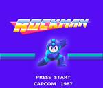 Rockman 1 NES titlescreen High-res Remake