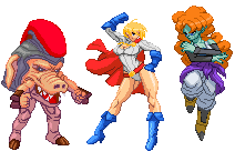 Today's batch of sprites: 2 girls 1 pig by Balthazar321