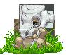 Cubone - Pokemon original 151 sprite contest entry by Balthazar321