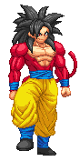 Patreon Reward - SSJ4 Goku select screen sprite by Balthazar321