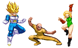Patreon Rewards - SSJ Goku, Android 18 and Tien by Balthazar321