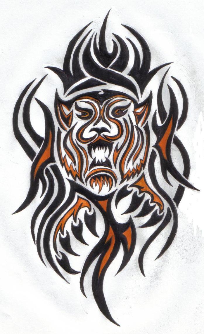 Tribal Tiger by ReaperXXIV on DeviantArt