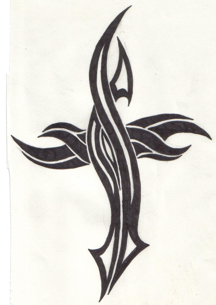 Tribal-Tattoos Tribal_Cross_by_ReaperXXIV