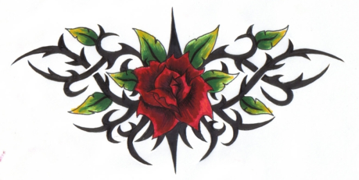A rose amongst the thorns by reaperxxiv on deviantart for Rose with thorns tattoo
