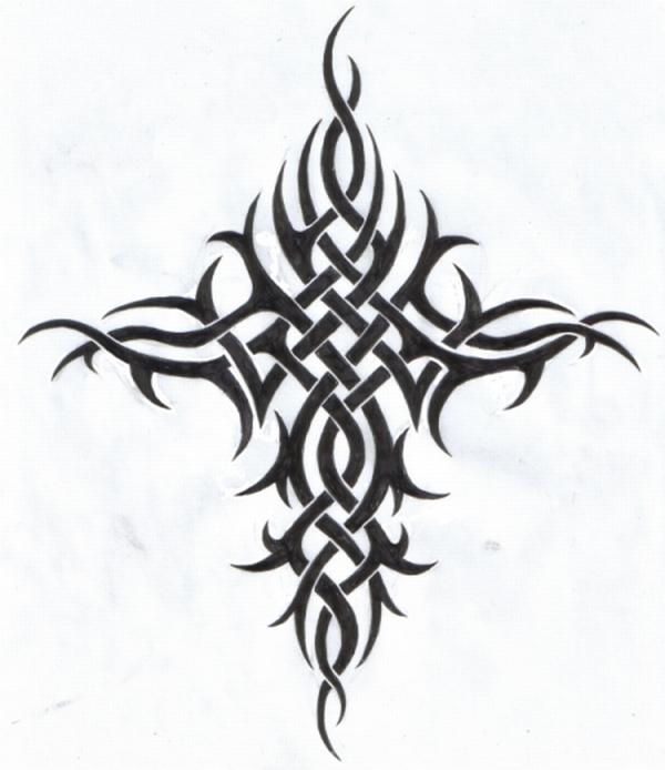 tribal cross tattoo for men. tribal cross tattoo for men.