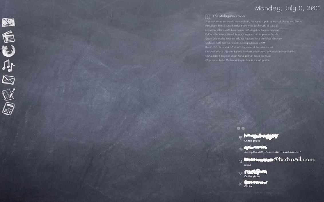 chalkboard desktop theme by mi hmm