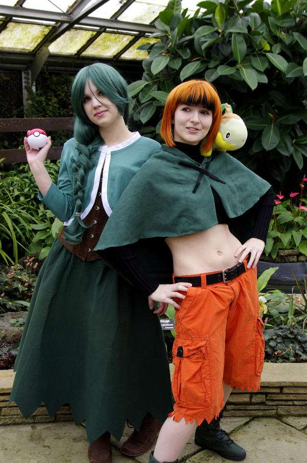 Pokemon Cosplay Cheryl and Gardenia by LadyofRohan87