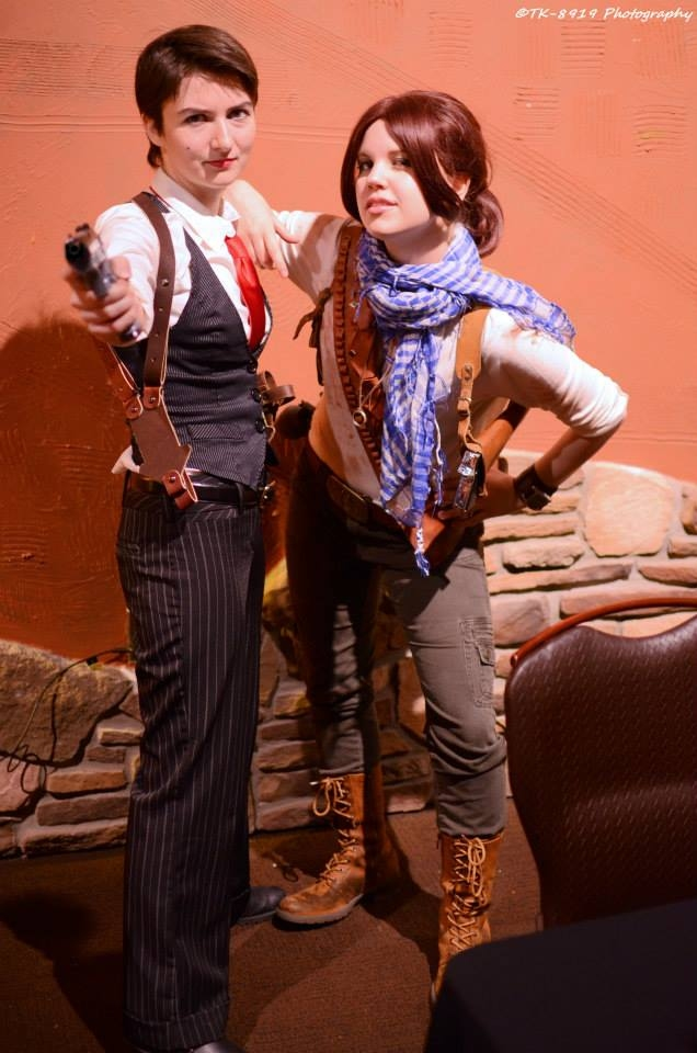 Uncharted cosplay Talbot and Drake rule 63 by LadyofRohan87