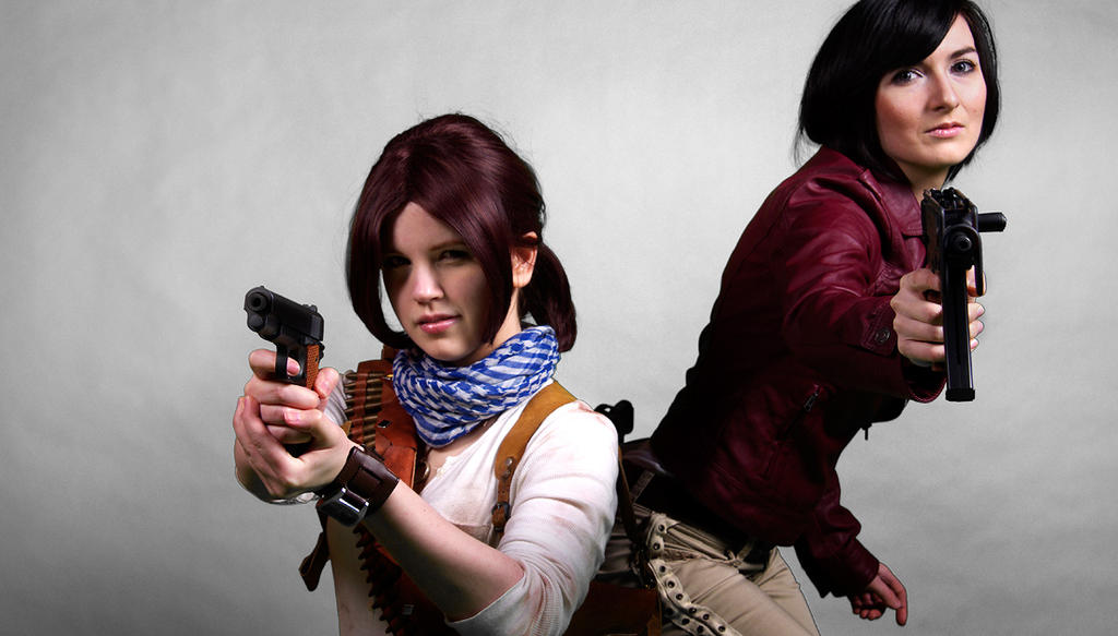 Uncharted 3 cosplay Chloe and rule 63 Drake by LadyofRohan87