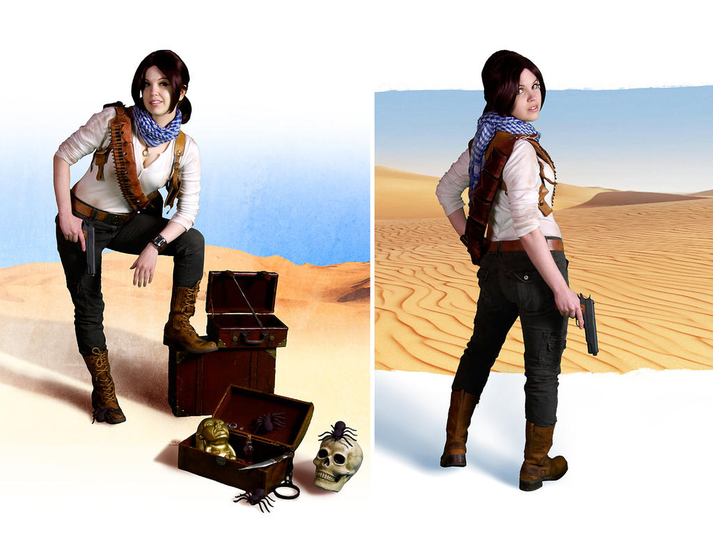 Uncharted cosplay Nathan Drake rule 63 by LadyofRohan87