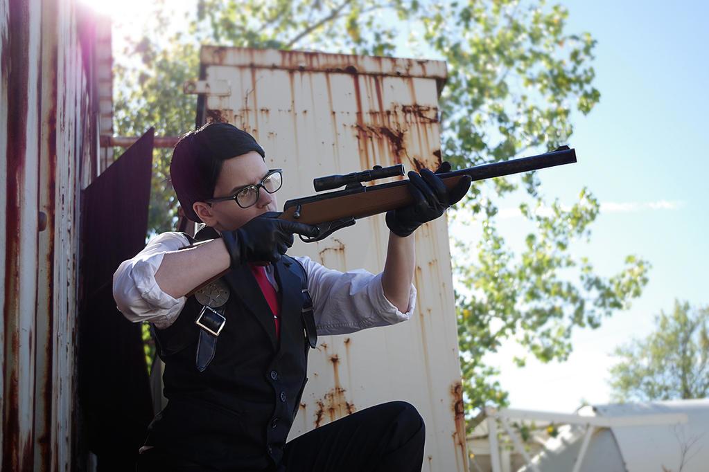 Joseph Oda Cosplay - Sniping by LadyofRohan87