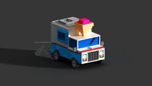 Ice cream truck | Voxel