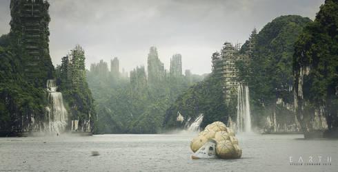 EARTH - digital matte painting by StevenCormann