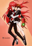 Rias and Issei  [High school DxD][Fan art]